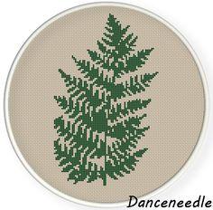 INSTANT DOWNLOAD,Free shipping,Cross stitch pattern, Cross-Stitch PDF ,fern leaf no.2  ,zxxc0826 by danceneedle on Etsy