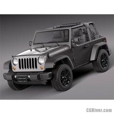 Jeep Wrangler Willis Wheeler 2014 - 3D Model