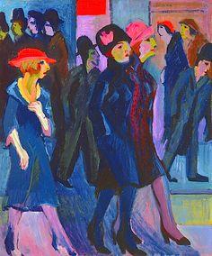 Ernst Ludwig Kirchner (German, 1880–1938) Street Scene [Strassenszene], 1926