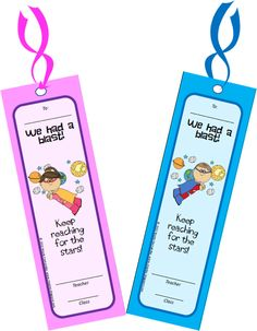 Free Printable End of School Year Bookmarks for your kiddos in celebration of the end of a tremendous school year with them!!!
