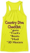 Country Diva Checklist!!!! Summer must have