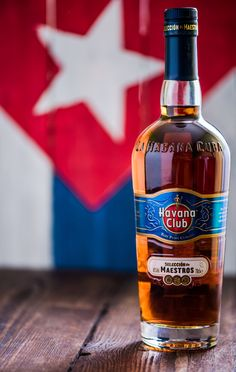 Bottle of Havana Club rum. - Havana,Cuba - May 23, 2016: Bottle of Havana Club rum. Established in 1878 in  Cuba, Havana Club is the world's No.3 international rum brand.Authentic Cuban rum perfect for Mojito and Daiquiri cocktails.