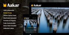 """Aakar is a Responsive WordPress Portfolio Theme or Best Portfolio Wordpress Themes suitable for all kinds of creative Portfolio websites"""".  Product Features:-  1. WordPress 3.8+ Ready. 2. HTML5 and CSS3 3. Unlimited Colors 4. Tested and working in All major browsers 5. Fully Responsive. Mobile and Tablet 6. Custom Like option for Blog Posts and Portfolio 7. Gallery Post Format 8. Logo Uploader 9. Full Documentation 10. 25+ Shortcodes"""