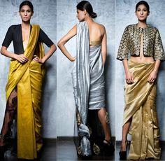 dhoti saree with pants - Google Search
