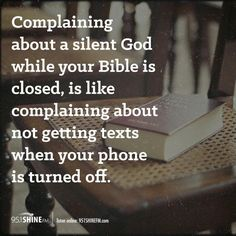 Listen to God by reading your Bible!