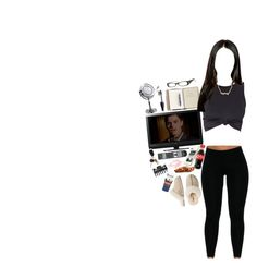 """american horror story n' chill"" by ashotofhennessyy ❤ liked on Polyvore featuring KURO, Sony, ULTA and UGG Australia"