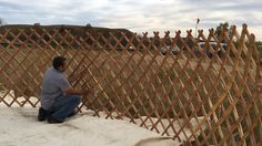 The building of the first Groovy Yurt at Oceti Sakowin Camp in October 2016