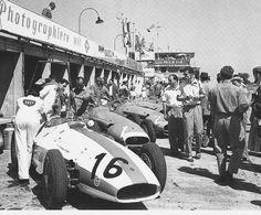 N°.16: Masten Gregory (USA) (Scuderia Centro Sud), Maserati 250F - Maserati L6 (finished 8th) N°.1: Juan Manuel Fangio (ARG) (Officine Alfieri Maserati), Maserati 250F - Maserati L6 (finished 1st) N°.2: Jean Behra (FRA) (Officine Alfieri Maserati), Maserati 250F - Maserati Straight-6 (finished 6th) 1957 German Grand Prix, Nürburgring Nordschleife