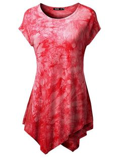 Sale 16% (23.29$) - Casual Women Short Sleeve Printed Irregular Hem Mini Dresses