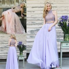 Long Prom Dress ,High Neck Prom Dress,Sleeveless Prom Dress ,Two Pieces Prom Dress ,Tulle Prom Dress,Charming Prom Dress,Party Dresses,Evening Dresses,PD0048