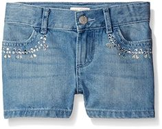 The Children's Place Girls' Denim Shorts with Rinestone * Visit the image link more details. We are a participant in the Amazon Services LLC Associates Program, an affiliate advertising program designed to provide a means for us to earn fees by linking to Amazon.com and affiliated sites.