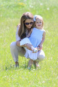 Princess Leonore and her mother Princess Madeleine are seen visiting the stables on June 3, 2016 in Gotland, Sweden. Duchess Leonore met her horse Haidi of Gotland for the first time.