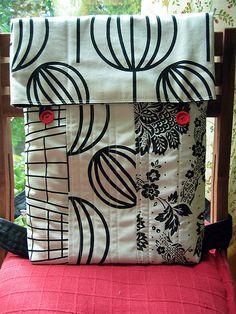 /// Patchwork bag b/w #patchwork #bag #purse #handmade