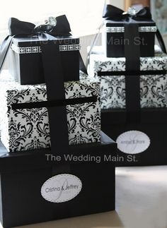 Wedding Card Boxes- theweddingmainst - Etsy Like?  We could make a whole lot cheaper - with lavendar bow?