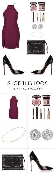 """""""Valentines day ❤️"""" by mindyabiznuz ❤ liked on Polyvore featuring Topshop, Charlotte Tilbury, Minor Obsessions, Givenchy, Christian Louboutin, women's clothing, women, female, woman and misses"""