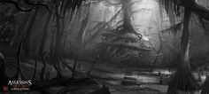 Assassin's Creed III :Liberation . Hut sketch by nachoyague on DeviantArt