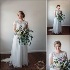 Bridal Portrait | Fairbridge Village Wedding | Rustic Wildflowers | Photography by Trish Woodford Photography Creative Shot, Groom Getting Ready, Bridesmaids And Groomsmen, Bridal Portraits, Family Photographer, Bride Groom, Rustic Wedding, Wedding Gowns, Flower Girl Dresses