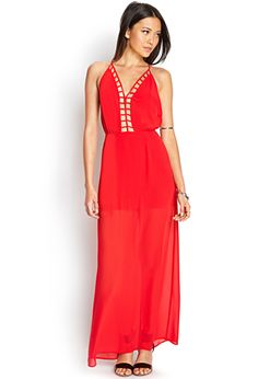 Caged Maxi Dress | FOREVER21 - 2000073215 considering this for the Jefferson formal
