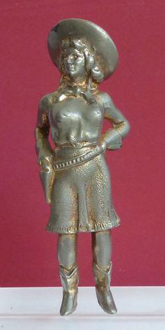 Metal Cowgirl Figurine