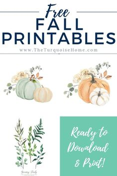 Greenery & Pumpkins: Free Fall Printables Free Fall Printables & Free Printable & Free Printables & Autumn Printables & Pumpkin Decor & Fall Decor The post Greenery & Pumpkins: Free Fall Printables & Fall Decor, Crafts and Recipes appeared first on Free . Pumpkin Printable, Free Printable Art, Free Printables, Decoupage, Happy Fall Y'all, Pumpkin Decorating, Fall Decorating, Fall Diy, Fall Pumpkins