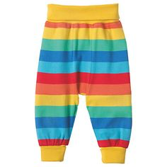 Buy Frugi Organic Baby Parsnip Rainbow Joggers, Multi Online at johnlewis.com