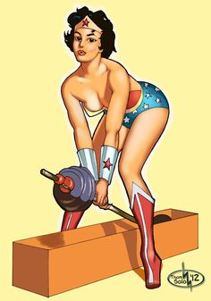 wonder_woman_pin_up_by_thomsolo-d5ef5aq.jpg (748×1069)  i would like her with longer hair though