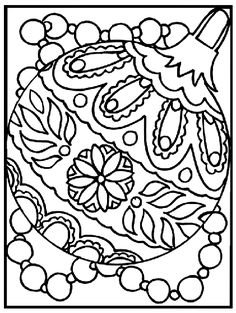 Show Off Your Creativity With This Fancy Ornament Coloring Page Holiday Break