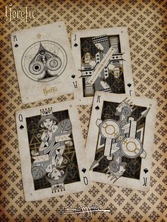 Like: the idea of playing off  playing card graphic, king and queen gymnasts  Heretic Playing Cards on Behance