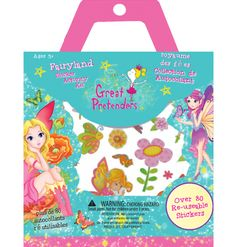 Great Pretenders - Fairyland Sticker Activity Kit - Perfect for travel and rainy day fun. Includes over 80 reusable stickers and 2 sheets of playgrounds for continued fun. Eco Kids, Rainy Day Fun, Building For Kids, Age, Fairy Land, Stickers, Gifts For Girls, Little Boys, Boy Or Girl