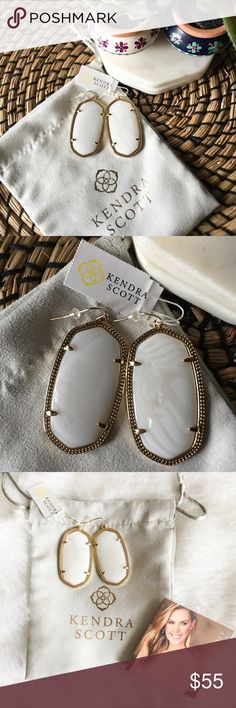 4413b19d0 Kendra Scott Mother of Pearl Danielle Earrings NWT never been used Kendra  Scott white mother of