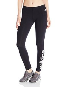 adidas Performance Women's Cotton Logo Leggings >>> Check out the image by visiting the link.