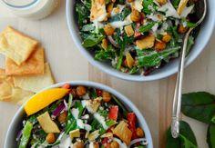 Mediterranean Salad with Crispy Chickpeas - Hello HealthyHello Healthy