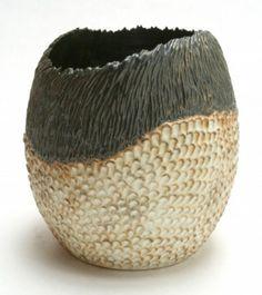 Andrew Dewitt Ceramics - Scaled Egg Vase
