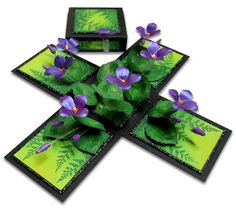 magic boxes: Exploding Box - Violets (In Memory of)