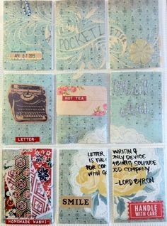 """Mail Art """"Pocket Letter"""" by Melissa Fetalvero of ATC's For All (front)"""