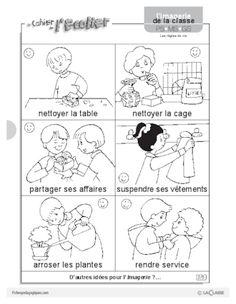 Imagerie: les règles de vie - FichesPédagogiques.com French Immersion, Worksheets, Kindergarten, Language, Comics, Recherche Google, Animation, School, Diy