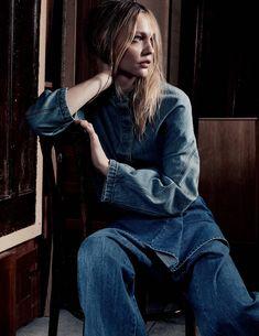 Sasha Pivovarova by Craig McDean for Vogue UK March 2015 - Page 2 | The Fashionography