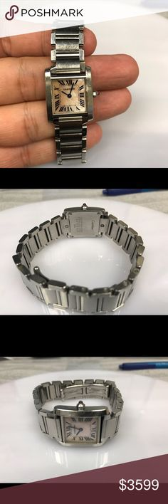 Women's watch This is pre-owned Cartier watch  before shipping it will be cleaned and overwhelmed properly. Wrist size approx 6.5  stainless steel and 100% authentic watch. 6 months warranty on movement. Cartier Accessories Watches