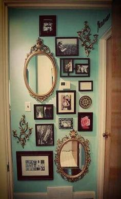 Frames and Mirrors. Insert geek art and photos in the frames, maybe a cool etching on the mirrors.