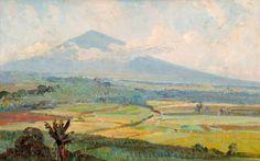 Ernest Dezentje (Jatinegara, 1885 – 1972), landschap.
