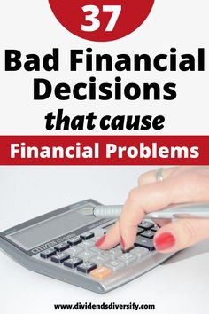 The easiest way to get your finances on track is to avoid bad financial decisions that cause financial problems. Financial Stress, Financial Peace, Financial Tips, Financial Planning, Budgeting Finances, Budgeting Tips, Dividend Investing, Energy Saving Tips, Attract Money