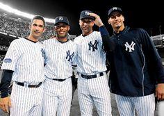 The Core Four: Jorge Posada, Mariano Rivera, Derek Jeter & Andy Pettitte.