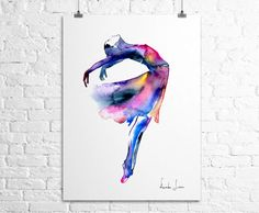 Colorful Art Print  Watercolor Painting by WatercolorPrint on Etsy, $30.00