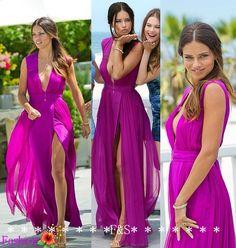 Summer Maxi Dress Long Fuchsia Chiffon Dress by FashionStreets, $139.00