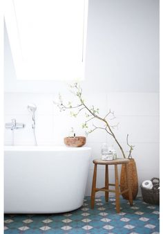 combinatie wit hout portugese tegels