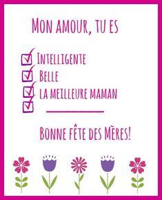 Cartes pour la fete des mere a imprimer #printables #mothersday #french