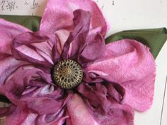 Silk Flower Pin Hand-dyed Handsewn by ImpromptuMillinery on Etsy