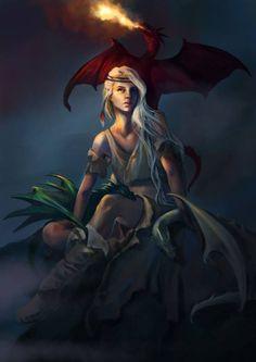 Khaleesi Mother of Dragons by Grazia Ferlito