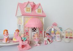 Precious Places Fisher Price houses furniture and by Collectique Childhood Toys, Childhood Memories, Stand Up Mirror, Pink Pie, Country Picnic, Doll House People, Ballet Studio, Yellow Candles, Pink Plates