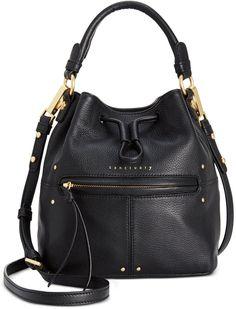 #Sanctuary #Leather #Drawstring #Small #Bucket #Bag